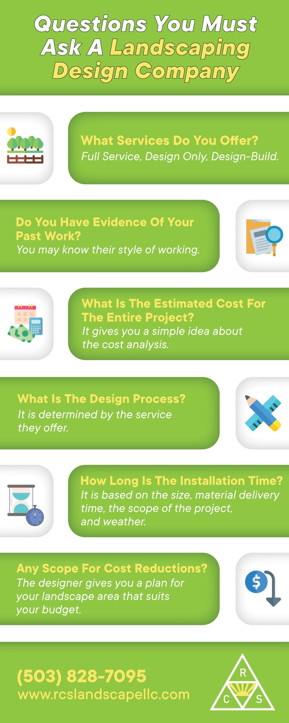 Questions You must Ask A Landscaping Design Company [Infographic]